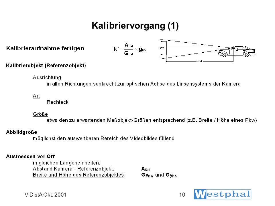 Kalibriervorgang (2) ViDistA Okt. 2001