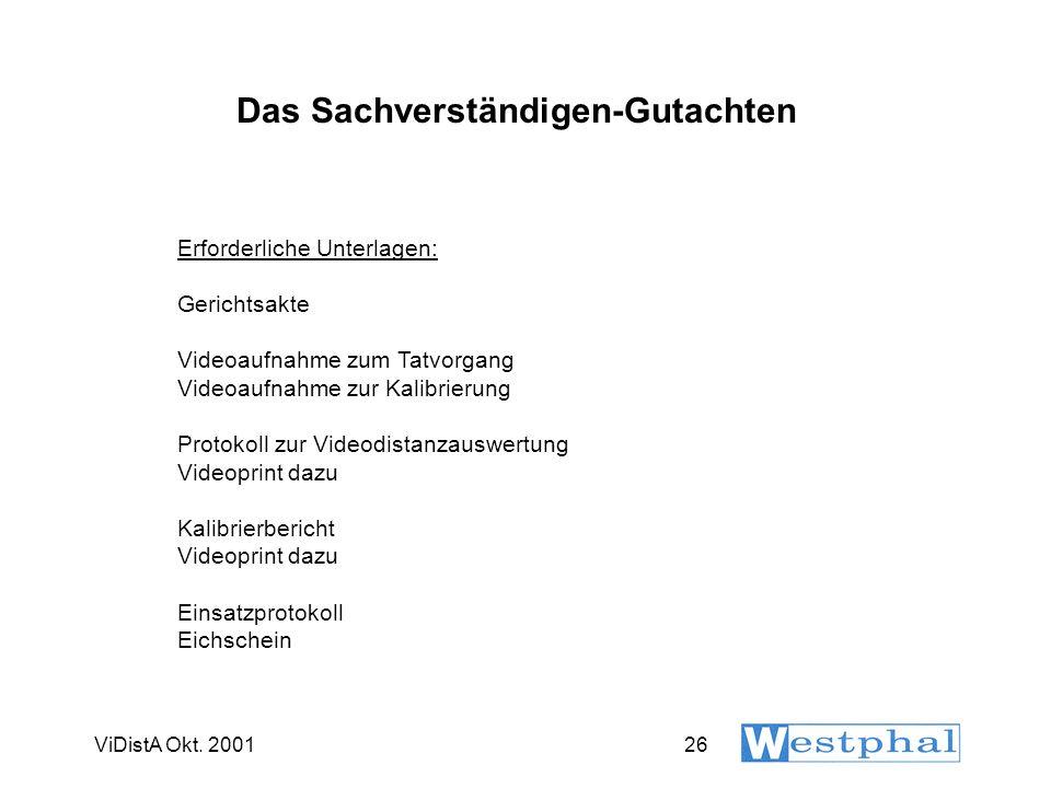 VIDISTA-Kalibrierbericht