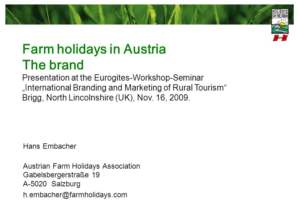 Farm holidays in Austria The brand