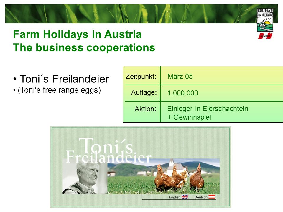 Farm Holidays in Austria The business cooperations