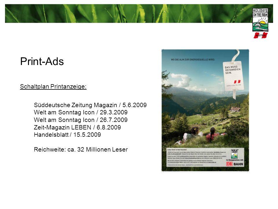 Print-Ads Schaltplan Printanzeige: