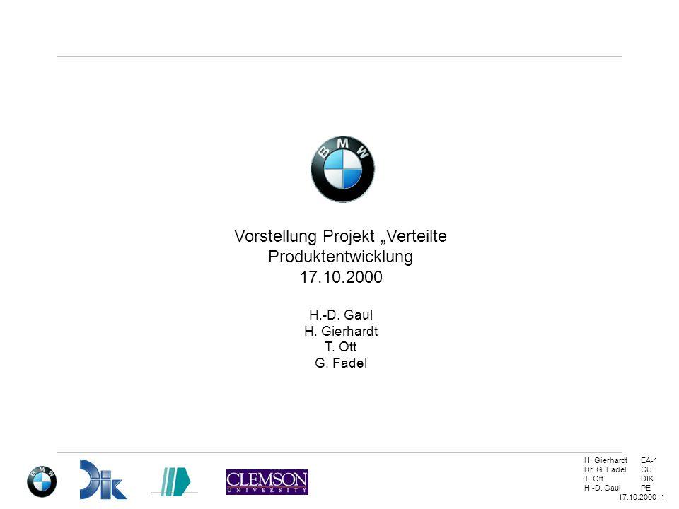 """Vorstellung Projekt """"Verteilte Produktentwicklung"""