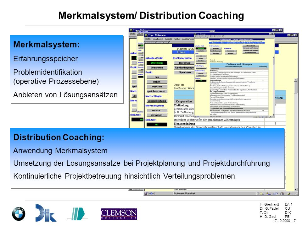 Merkmalsystem/ Distribution Coaching