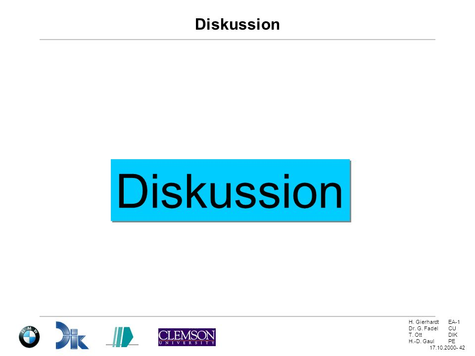 Diskussion Diskussion