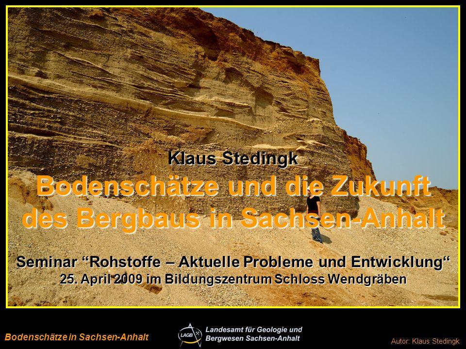 Bodenschätze und die Zukunft des Bergbaus in Sachsen-Anhalt