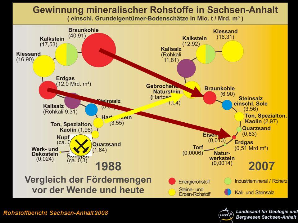Rohstoffschlange LSA 1988 und 2007 Energie