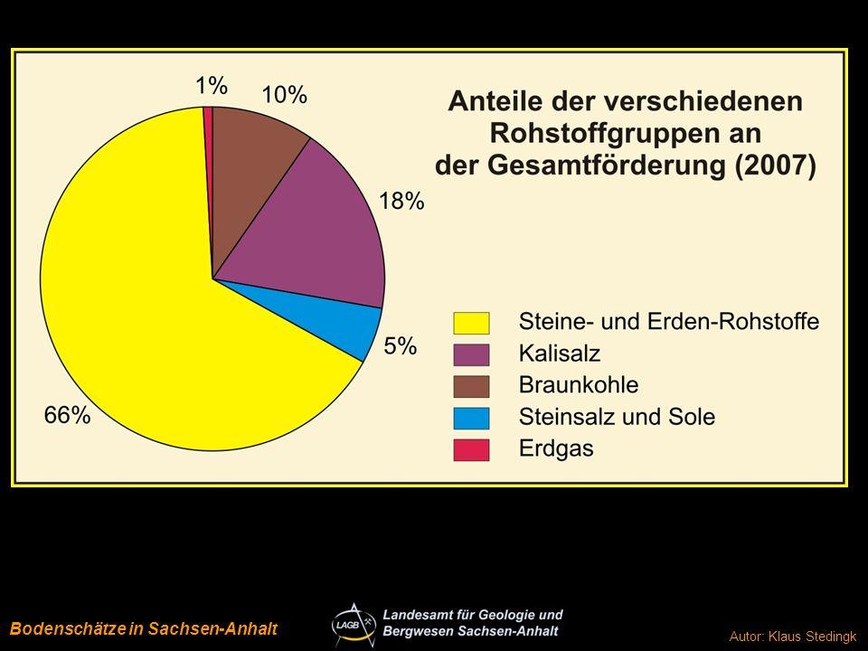 Rohstoffe Anteile 2007 Bodenschätze in Sachsen-Anhalt
