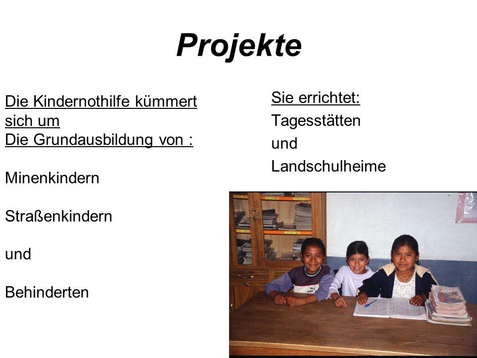 Projekte Sie errichtet: Die Kindernothilfe kümmert sich um
