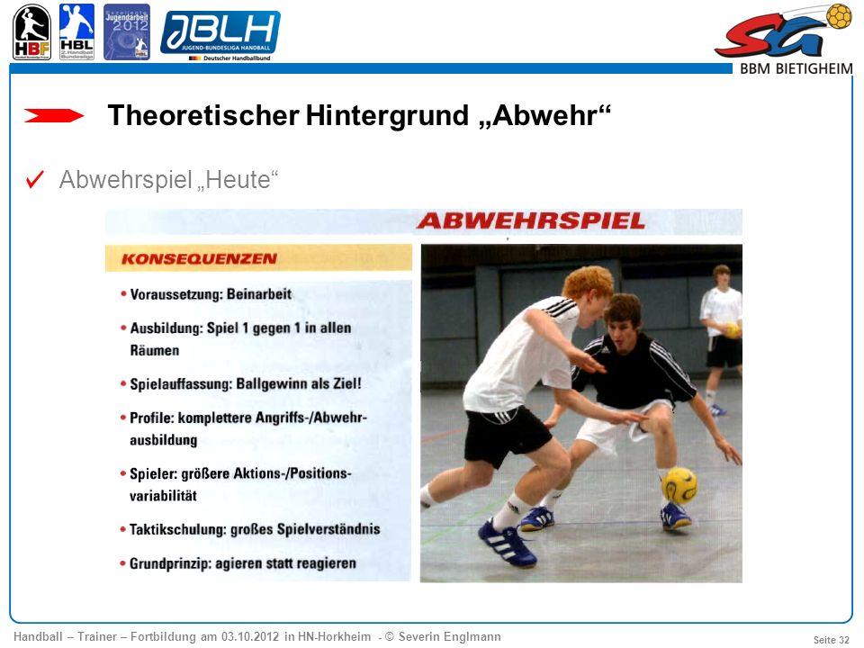 """Theoretischer Hintergrund """"Abwehr"""