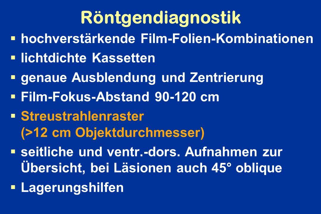 Röntgendiagnostik hochverstärkende Film-Folien-Kombinationen