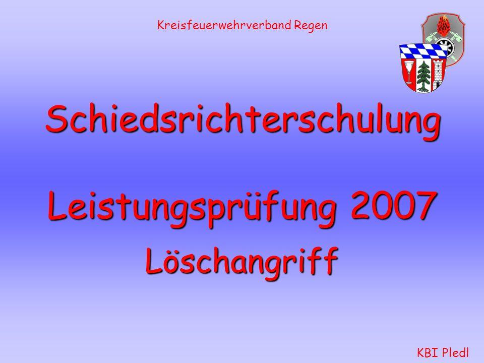 Schiedsrichterschulung Leistungsprüfung 2007
