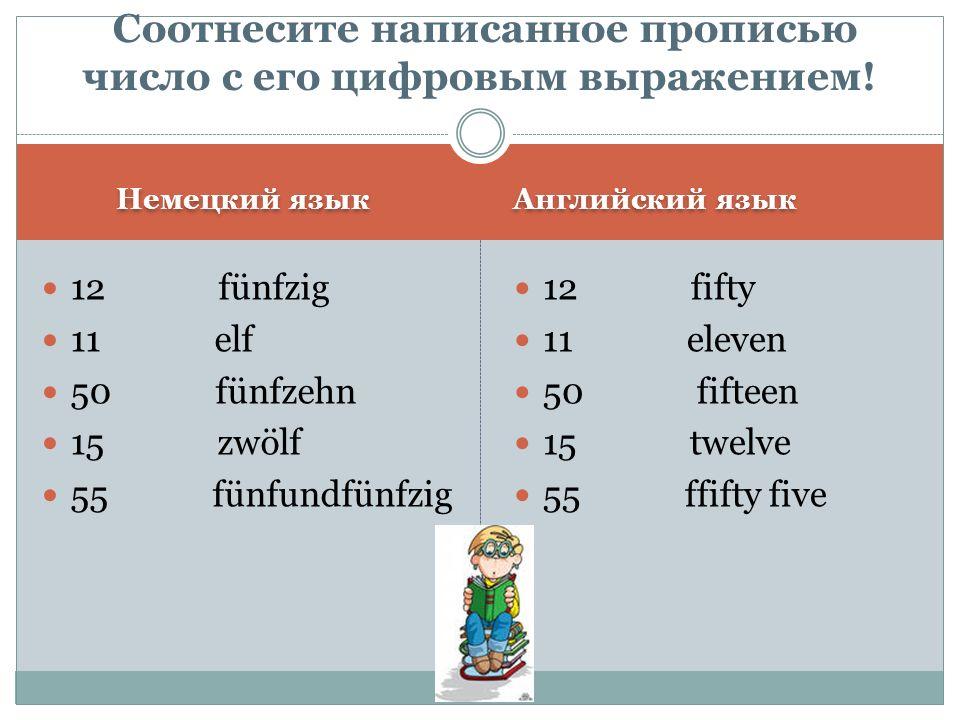 Соотнесите написанное прописью число с его цифровым выражением!