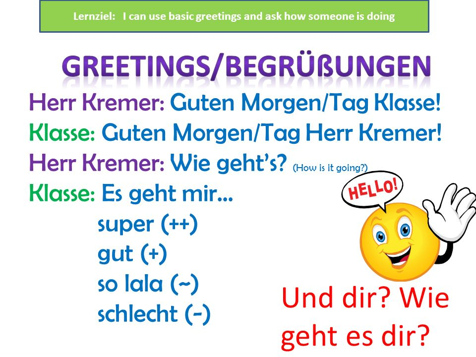 Greetings/BegrÜßungen