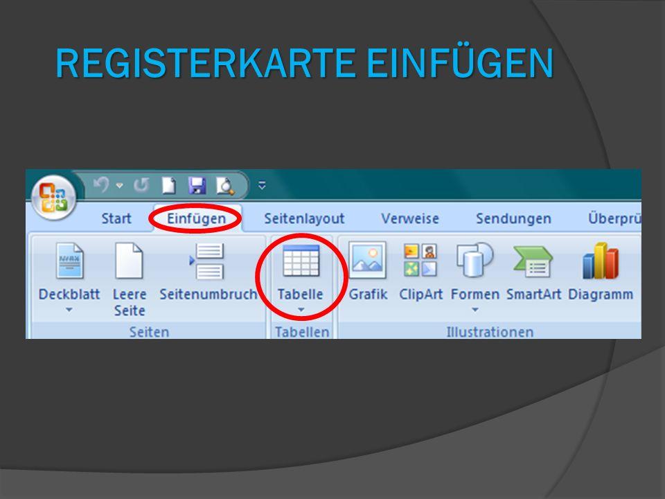 Registerkarte Einfügen