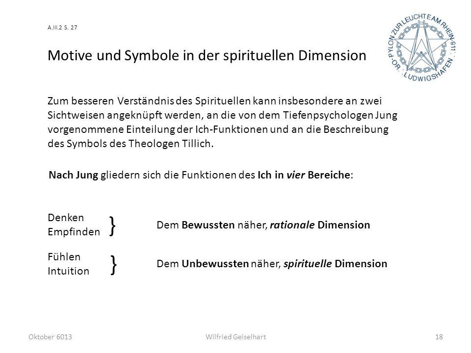 } } Motive und Symbole in der spirituellen Dimension