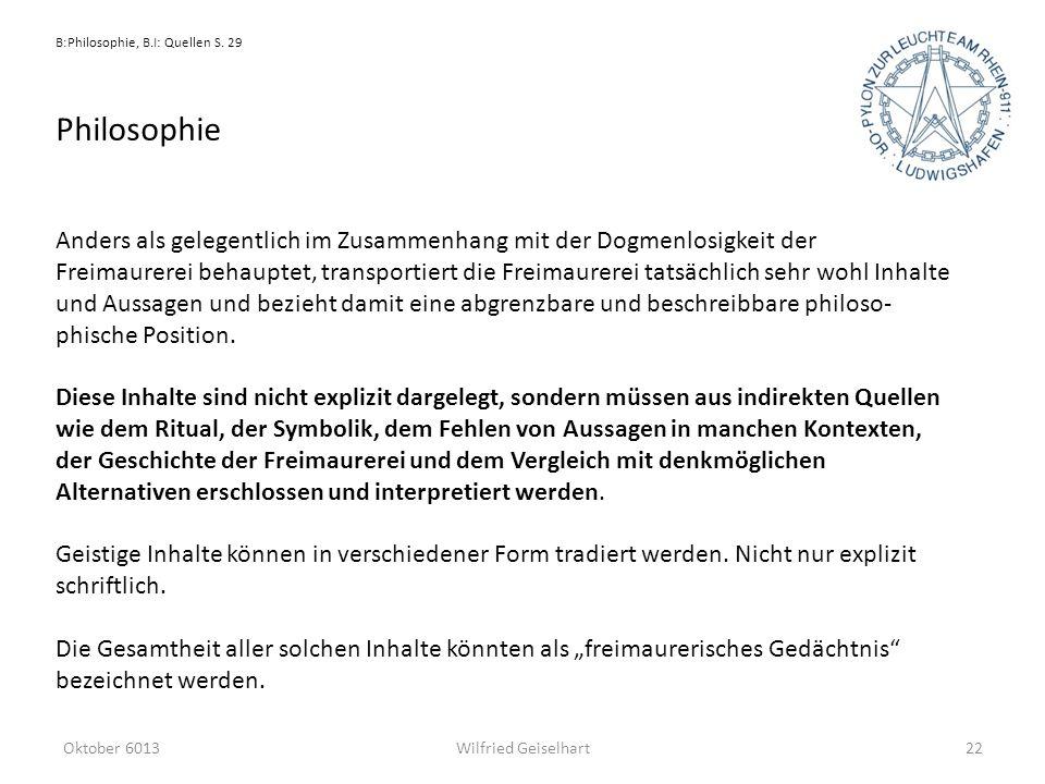 B:Philosophie, B.I: Quellen S. 29