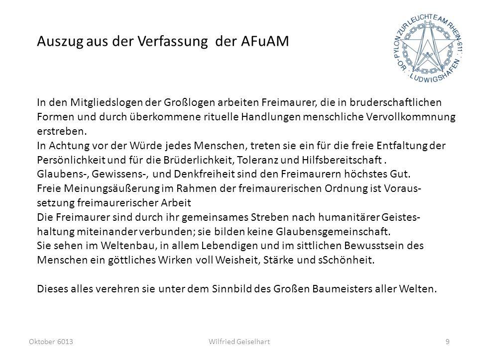 Auszug aus der Verfassung der AFuAM