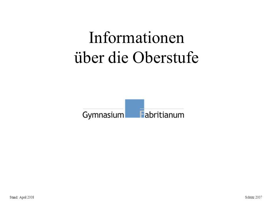Informationen über die Oberstufe