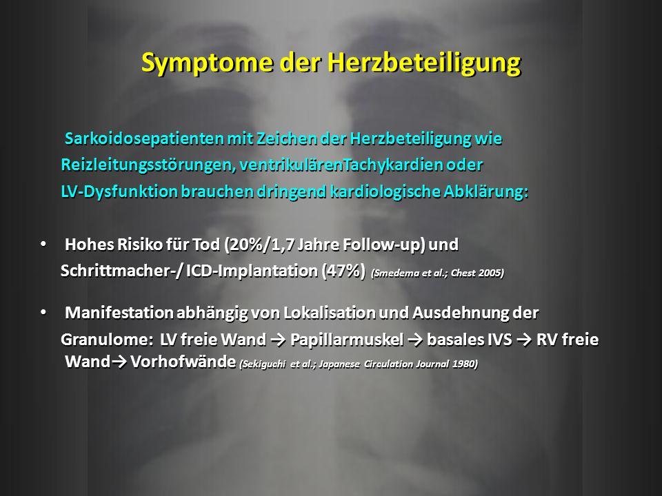 Symptome der Herzbeteiligung
