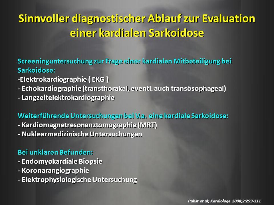 Sinnvoller diagnostischer Ablauf zur Evaluation einer kardialen Sarkoidose