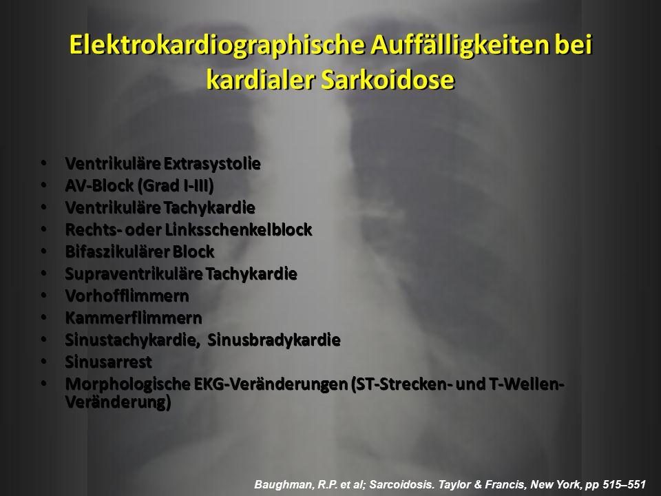 Elektrokardiographische Auffälligkeiten bei kardialer Sarkoidose