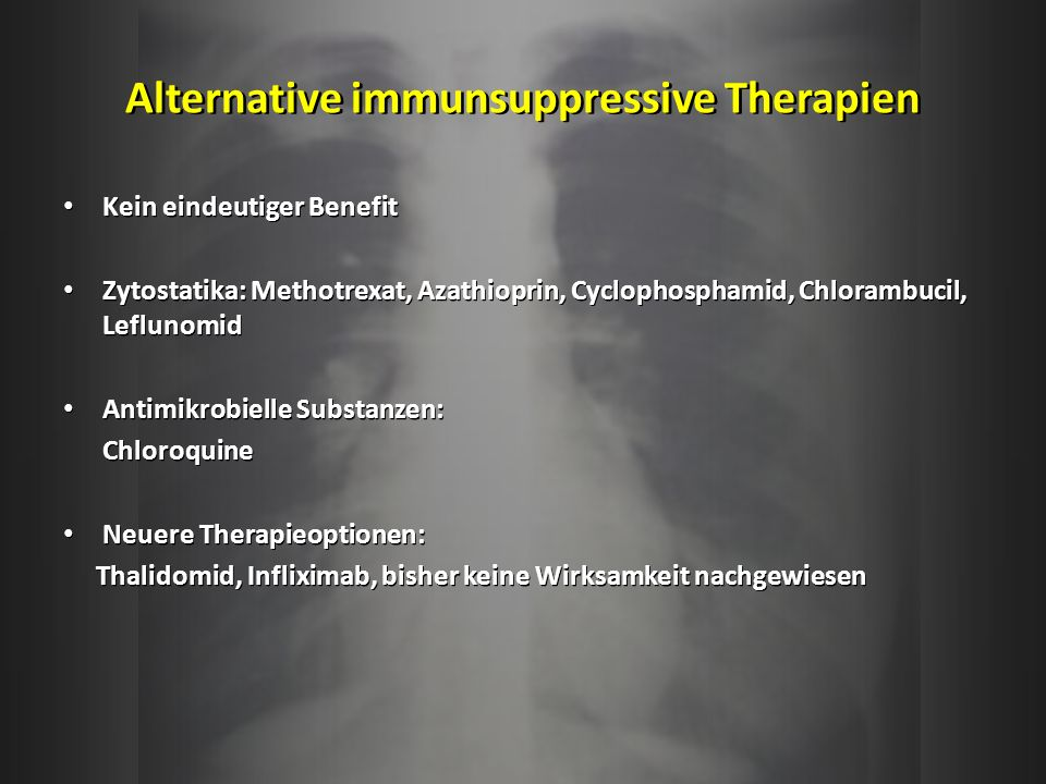 Alternative immunsuppressive Therapien