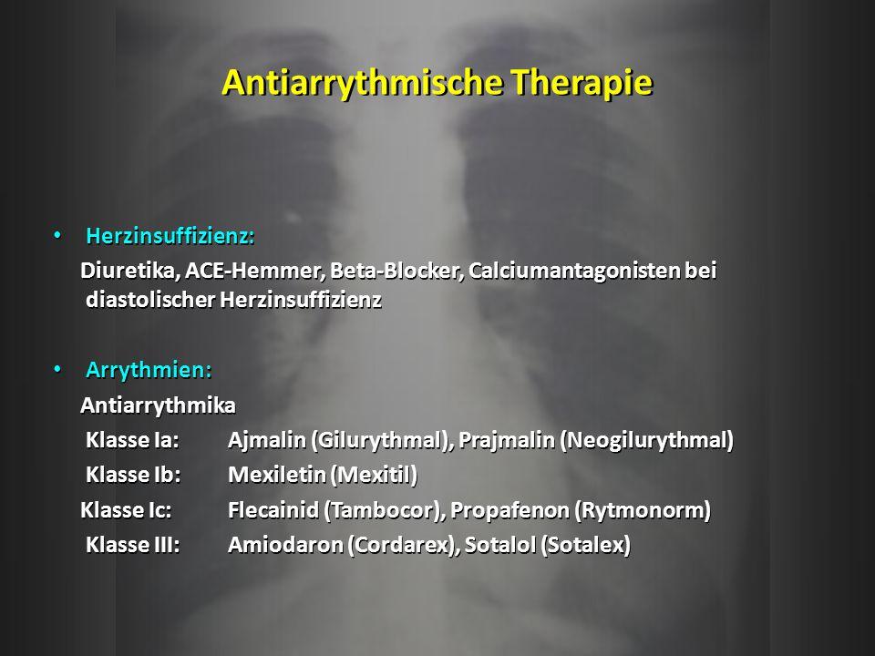 Antiarrythmische Therapie