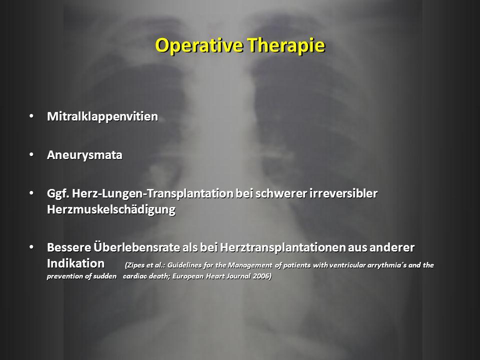 Operative Therapie Mitralklappenvitien Aneurysmata