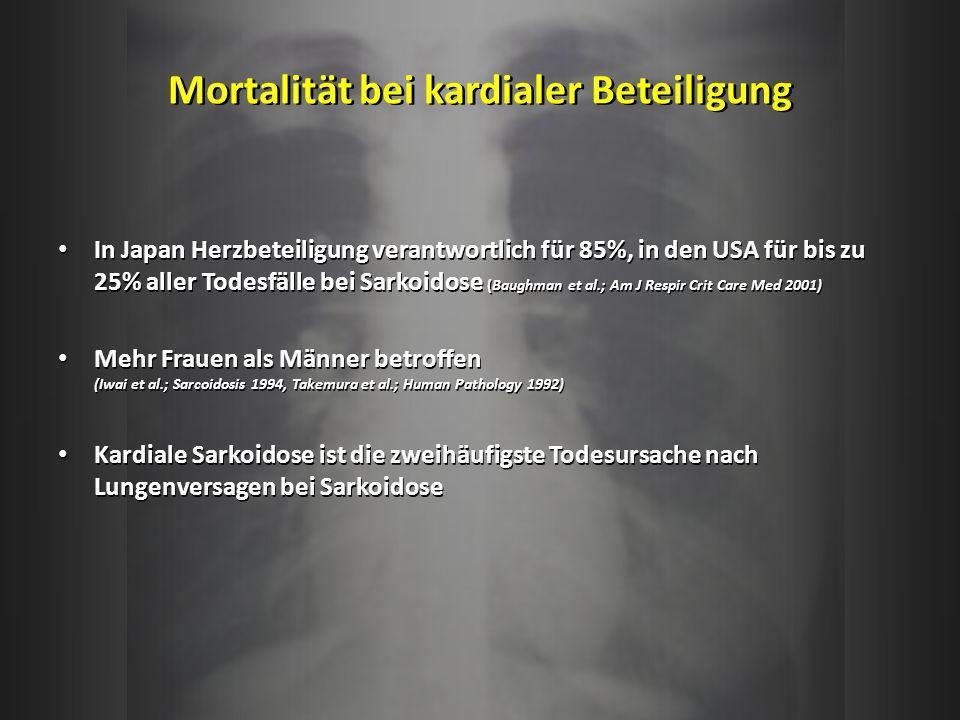 Mortalität bei kardialer Beteiligung