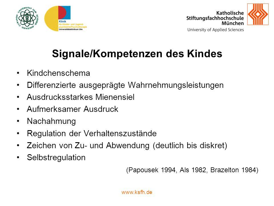 Signale/Kompetenzen des Kindes