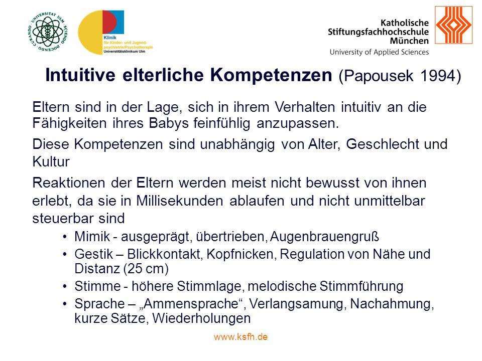 Intuitive elterliche Kompetenzen (Papousek 1994)