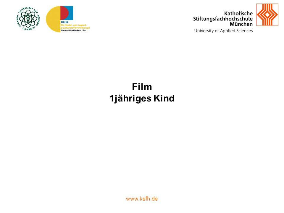 Film 1jähriges Kind