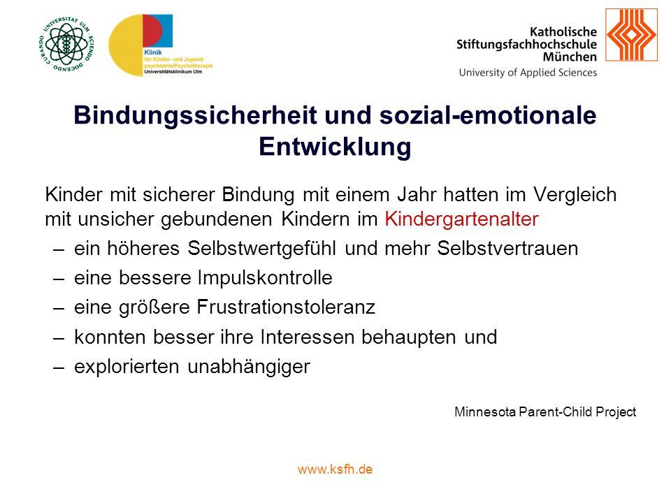 Bindungssicherheit und sozial-emotionale Entwicklung