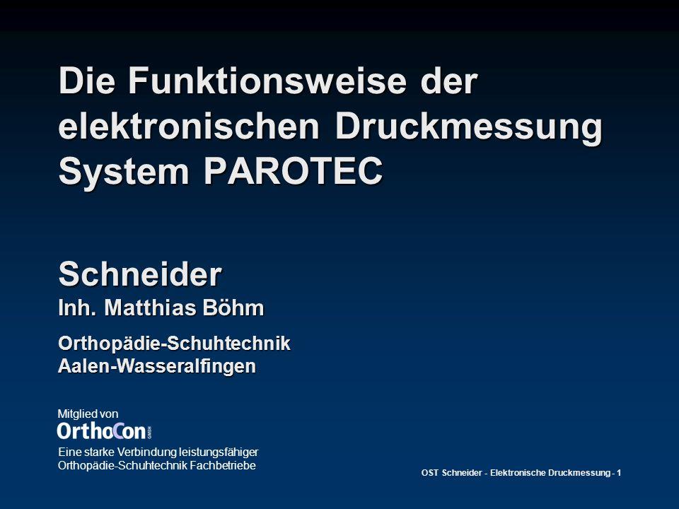 Die Funktionsweise der elektronischen Druckmessung System PAROTEC