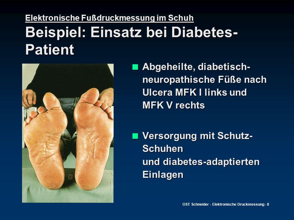 Versorgung mit Schutz-Schuhen und diabetes-adaptierten Einlagen