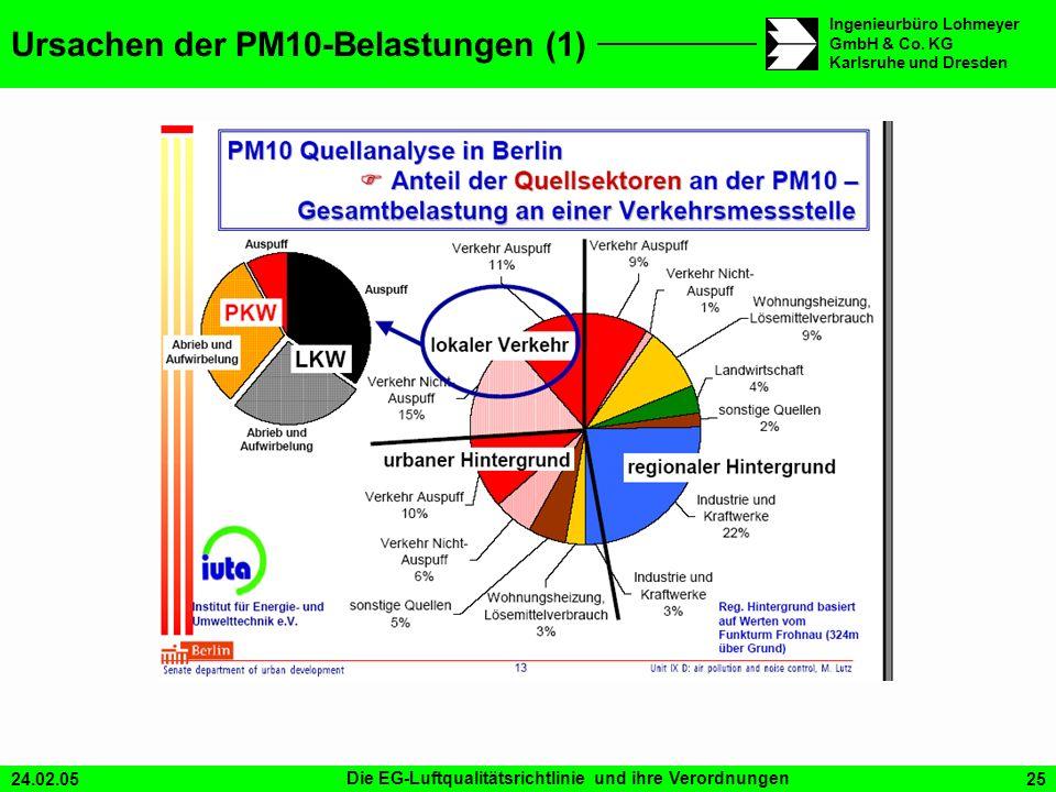 Ursachen der PM10-Belastungen (1)