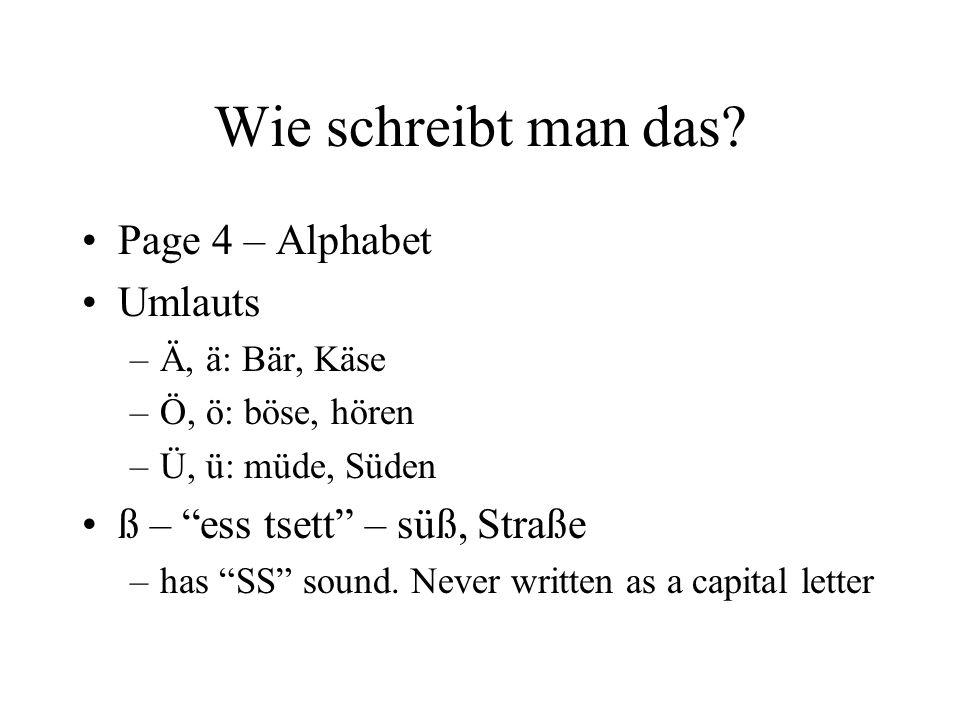 Wie schreibt man das Page 4 – Alphabet Umlauts