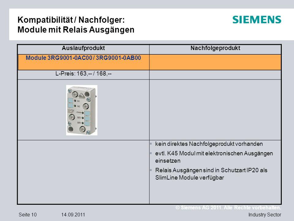 Kompatibilität / Nachfolger: Module mit Relais Ausgängen