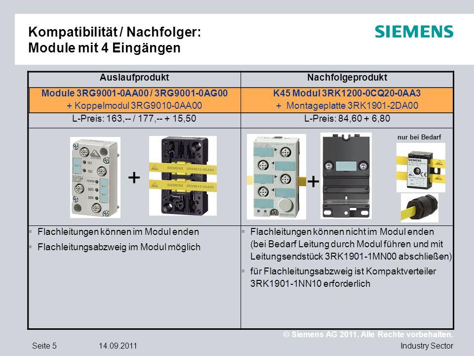 Kompatibilität / Nachfolger: Module mit 4 Eingängen