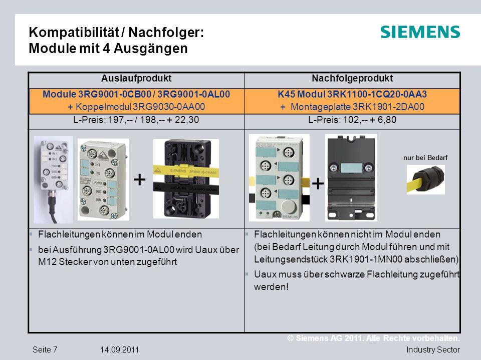 Kompatibilität / Nachfolger: Module mit 4 Ausgängen