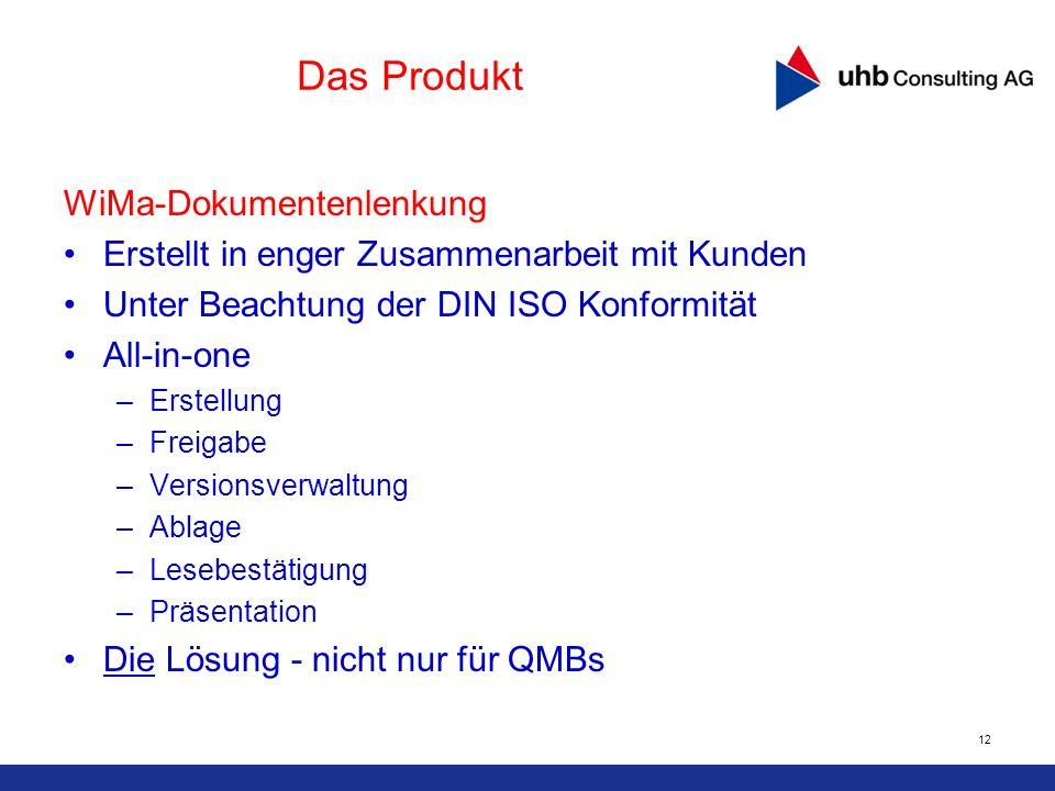 Das Produkt WiMa-Dokumentenlenkung