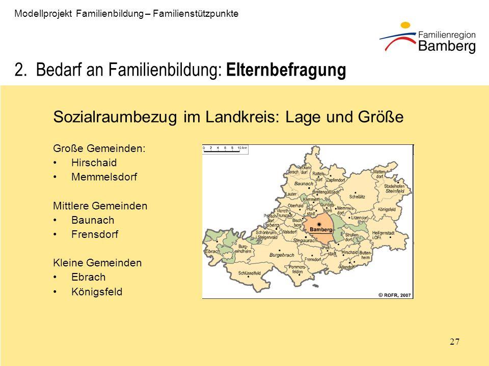 2. Bedarf an Familienbildung: Elternbefragung