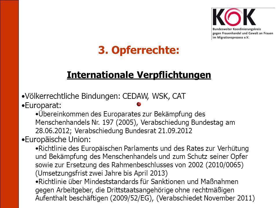 Internationale Verpflichtungen