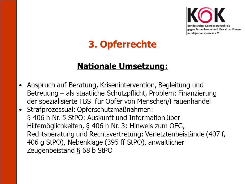3. Opferrechte Nationale Umsetzung: