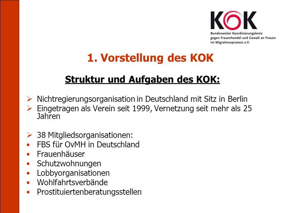 Struktur und Aufgaben des KOK: