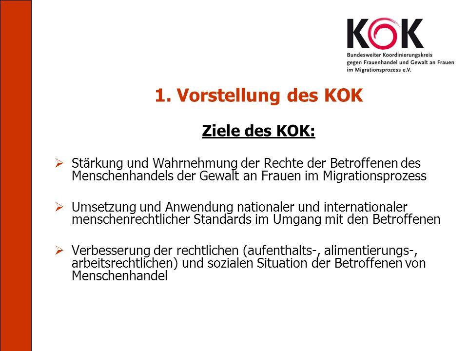 1. Vorstellung des KOK Ziele des KOK:
