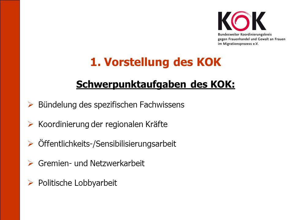 Schwerpunktaufgaben des KOK: