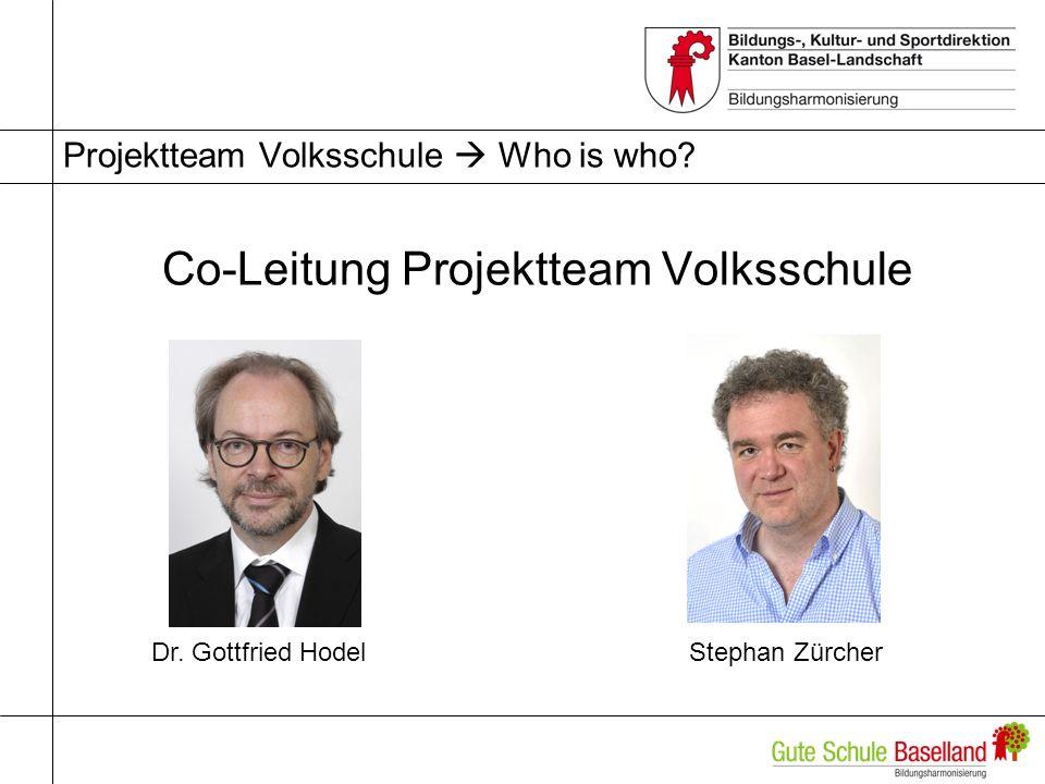 Projektteam Volksschule  Who is who
