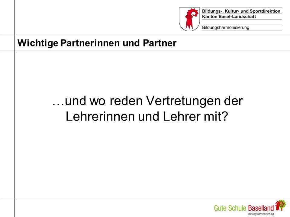 Wichtige Partnerinnen und Partner