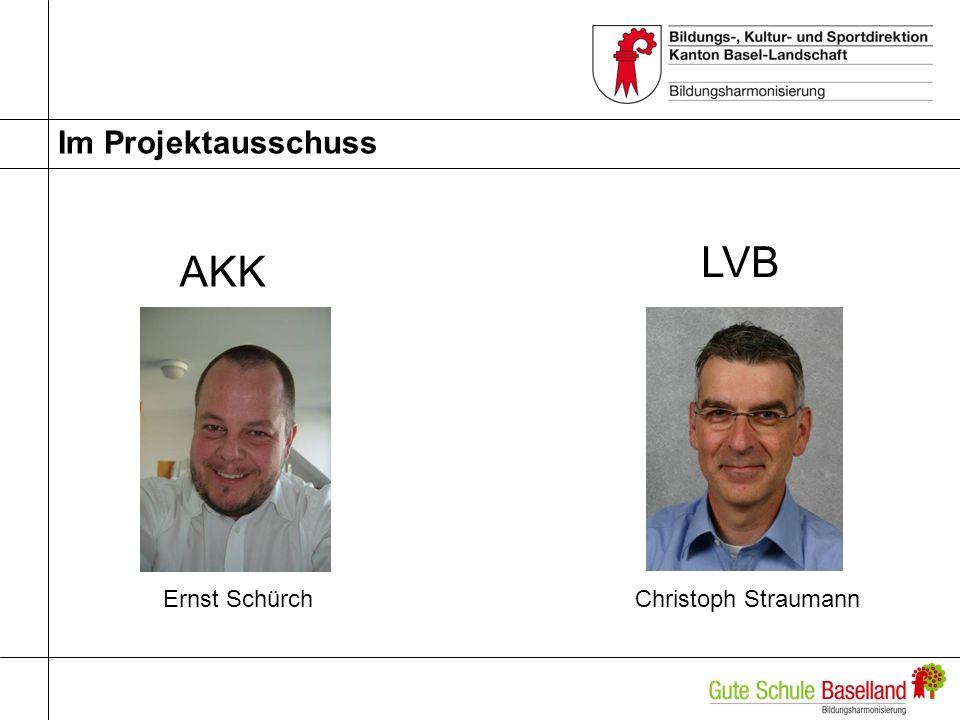 Im Projektausschuss AKK LVB Ernst Schürch Christoph Straumann